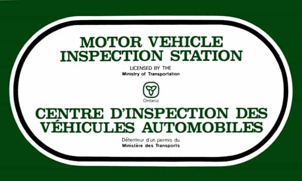 Ontario Certified Motor Vehicle Inspection Station